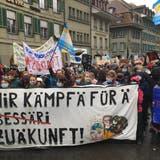Über 2000 Umweltaktivisten in der Innenstadt – das war der Berner Klimaprotest