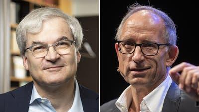 Markus Somm (links) und Reto Brennwald. (Keystone/Montage: CH Media)