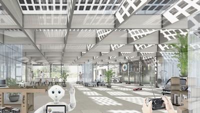 Futuristischer Neubau in Obersiggenthal