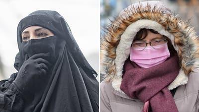 Rote Köpfe bei den Verfechtern des Verhüllungsverbots: Wegen der Maskenpflicht funktionieren ihreArgumente weniger gut
