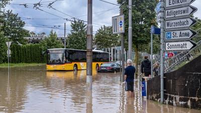 Heftige Regenfälle setzen den Kanton Luzern unter Wasser