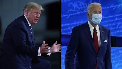 Trump und Biden im Fernduell: Die beiden Präsidentschaftskandidaten sind zwei grundverschiedene Menschen