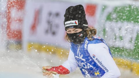 Erlösung im Slalom nach 19 sieglosen Jahren: Michelle Gisin gewinnt, wie es Siegerinnen tun