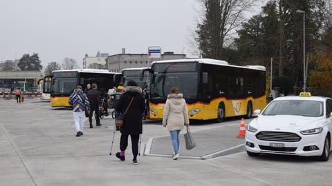 Bauarbeiten am Bahnhof gehen schneller voran als geplant – schon jetzt verkehren erste Busse