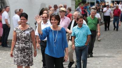 Doris Leuthard wird Ehrenbürgerin von Sarnen