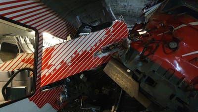 Autozug crasht im Wallis in Regio-Zug – elf Personen leicht verletzt