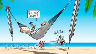 Geimpfte können auf freie Sommerferien hoffen. (Silvan Wegmann / Aargauer Zeitung)