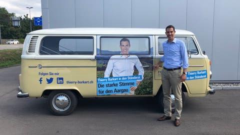 Wahlkampf mit «alter Dreckschleuder»: SP greift Ständeratskandidat Thierry Burkart wegen VW Bus an