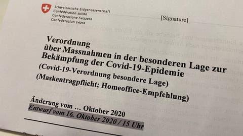 Bundesrats-Plan enthüllt: Einschränkungen für Familienanlässe und landesweiteMaskenpflicht