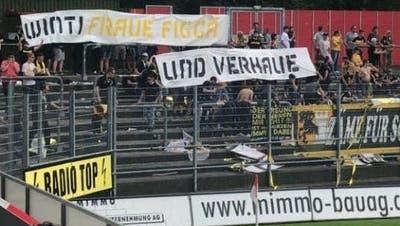 Frauenhass-Transparent von Schaffhauser Fan: Liga spricht Stadionverbote gegen drei Urheber aus