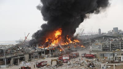 Beirut: Neuerlicher Brand in der Hafenregion– die Bilder
