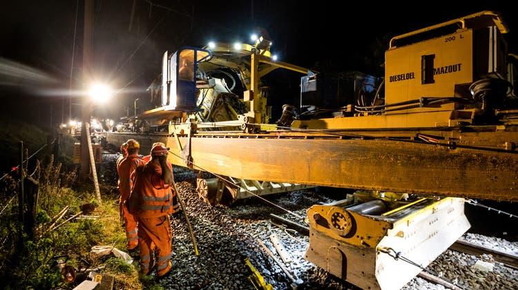 Gleisbauarbeiten zwischen Wettingen und Killwangen sorgen für Irritationen