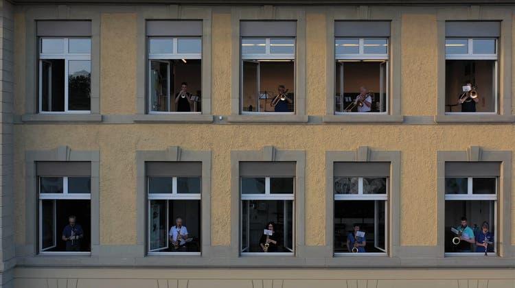 «Fenster auf» statt «Bühne frei» für die Harmonie Gerlafingen