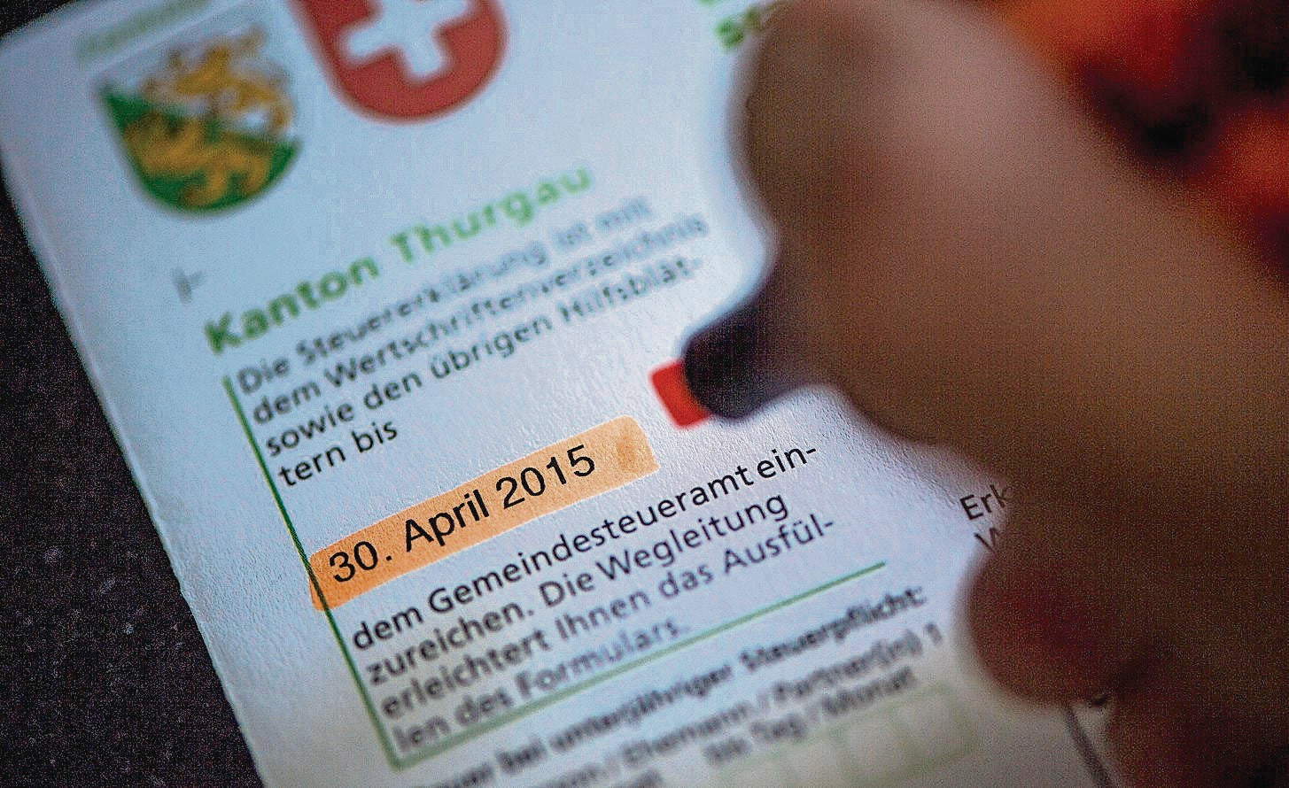 steuererklärung 2017 thurgau