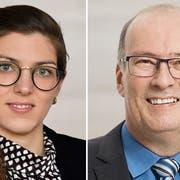 Franziska Ryser (Grüne) und Markus Ritter (CVP) haben beide rund ein Drittel ihrer Stimmen ausserhalb der eigenen Parteilisten geholt. (Bilder: PD)