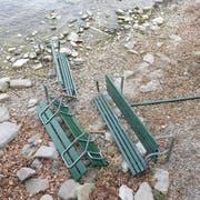 Die Bänkli gingen teilweise kaputt. (Bilder: Gülsen Karasu Üzümcüoglu)