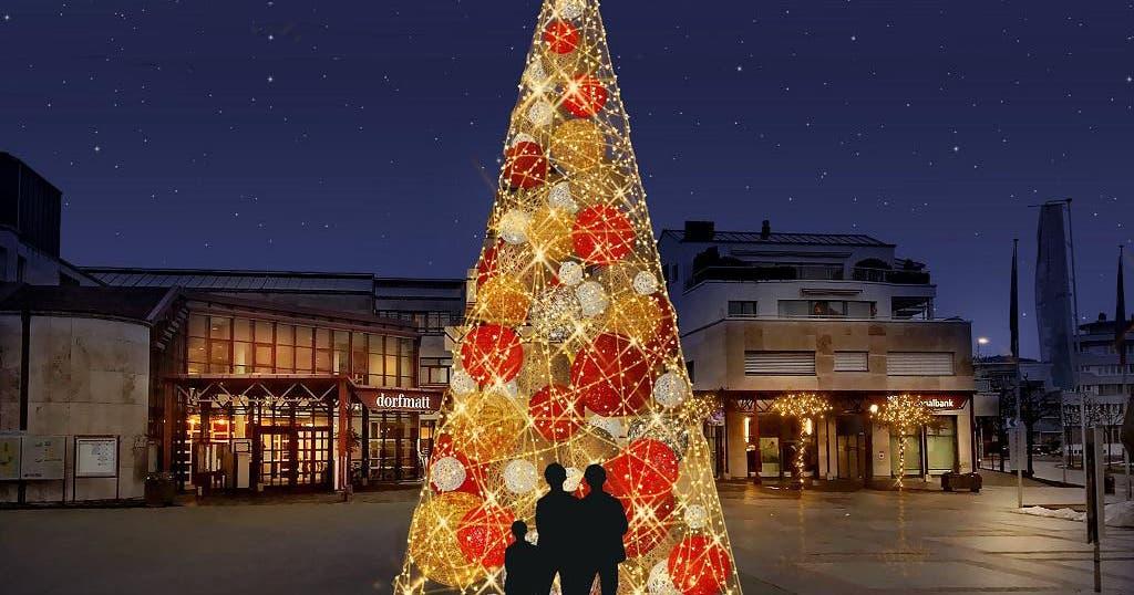 Weihnachtsbeleuchtung Kegel.Rotkreuz Nimmt Seine Neue Weihnachtsbeleuchtung In Betrieb