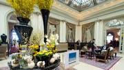 Im Hotel Bellevue Palace in Bern finden während der Session viele Anlässe statt. (Bild: KEY)