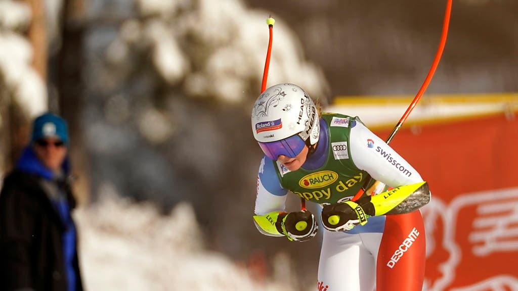 Corinne Suter Dritte im Super-G – Sieg für Viktoria Rebensburg