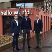 Armin Schmid von Swiss Crypto Token, Bastiaan Don von Blockimmo und Martin Schneider von Elea Labs (von links). Bild: PD