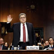 US-Justizminister William Barr bei einer Anhörung vor dem US-Senat. Bild: Shawn Thew/EPA (Washington, 18. April 2019)