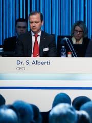 Saverio Alberti an der Hapimag-Generalversammlung in der Waldmannhalle in Baar. (Bild: Stefan Kaiser (25.April 2018)