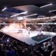 So soll das Innere der Pilatus-Arena aussehen. (Visualisierung: PD)