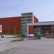 Visualisierung des Car-Terminals mit neuem Parkhaus, Cafeteria und einem eigenen Reise-Kino. (Bild: PD)