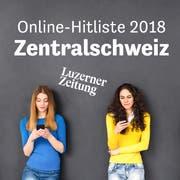 Teaserbild Online Hitliste 2018 - Zentralschweiz