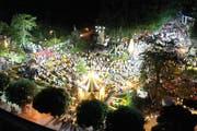 Der «Donnschtig-Jass» wurde live aus dem Jakob-Züllig-Park gesendet. (Bild: Manuel Nagel)