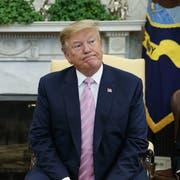 Donald Trump im Oval Office im Weissen Haus. (Bild: Evan Vucci/AP, 4. November 2019)