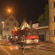 Die Feuerwehr konnte den Brand an der Amriswilerstrasse rasch löschen. (Bild: BRK News)