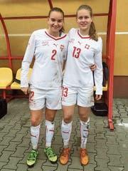 Victoria Bischof und Nadine Riesen nach ihrem Einsatz in Polen anlässlich des ersten internationalen Turniers mit dem Nationalteam vor zwei Jahren. (Bild: PD)