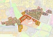Die Planungszone im Zentrum von Engelberg. (Bild: PD)