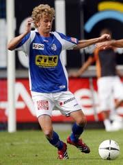 Lustenberger im Trikot des FC Luzern im Jahr 2007. (Bild: Philipp Schmidli (Luzern, 29.07.2007))