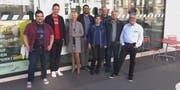 Gruppenbild der acht Gemeinderäte der Freien Liste und Grüne: Urs Wolfender, Beni Merk, Veronika Färber, Daniel Moos, Anna Rink, Guido Leutenegger, Xaver Dahinden und Jost Rüegg. (Bild: PD)