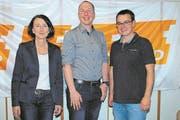 Eva Dal Dosso ist neu im Vorstand der CVP Kreuzlingen, und Marc Bischofberger hat das Präsidium von Stephan Marty übernommen. (Bild: PD)