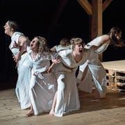 An der Hauptprobe des Jugendtheaters Willisau. (Bild: Pius Amrein, 4. Juni 2019)
