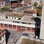 Das Feuerwehrdepot der Berufsfeuerwehr an der Notkerstrasse 44 neben der Olma ist in die Jahre gekommen. Es soll erweitert und saniert werden. (Bild: Ralph Ribi)