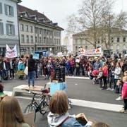 Auf dem Postplatz tun Demonstranten ihre Anliegen kund. (Bild: PD)