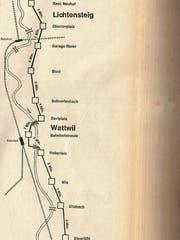 Mögliche Verbesserung der Verkehrsverhältnisse in der Gegend zwischen Lichtensteig, Wattwil und Ebnat-Kappel - publiziert vor 50 Jahren. (Bild: PD)