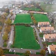 Zwischen Eisbahnstrasse und Schulsportanlage Schönau enthält die Stadt 55000 Quadratmeter zusammenhängendes Land entlang der Zürcher Strasse. Es handelt sich dabei gemäss Baudirektorin Maria Pappa um wertvolles Entwicklungsgebiet. (Bilder: Ralph Ribi)