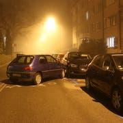 Die Unfallstelle an der Oststrasse. (Bilder: Stadtpolizei St.Gallen - 23. November 2018)