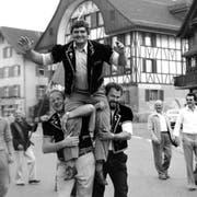 Heinrich Oswald aus Rain prägte als fünffacher eidgenössischer Kranzschwinger die Anfangsjahre des Klubs. Er gewann 1931/34/37/40/43. (Bild: Schwingklub Rothenburg)
