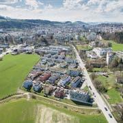 Die Remishueb, das erste smarte Quartier in St.Gallen. (Bild: Hanspeter Schiess (10. April 2018))