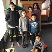 Zu Recht guter Hoffnung: die Yaprak-Bayram-Kinder im Winter 2017 in der Wiler Kirchenwohnung. (Bild: Privat)