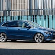 Gelungene Mischung: Mercedes B200 in Denim Blue. (Bild: zvg)