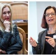 Wer bleibt, wer kommt? Barbara Keller-Inhelder (links), Yvonne Gilli. Bilder: Keystone, Ralph Ribi