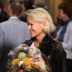 Andrea Gmür (CVP) konnte nach Damian Müller die meisten Stimmen ergattern. Zum absoluten Mehr reichte es jedoch nicht. (Bild: Philipp Schmidli, Luzern, 20. Oktober 2019)