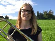 Die Posaunistin Carola Muff tritt mit der Nationalen Jugend Brass Band in Hochdorf auf. Bild: PD